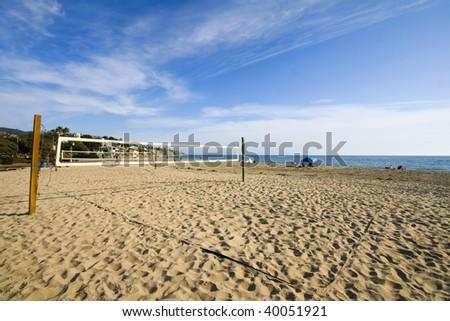 Beach Volleyball Court - stock photo