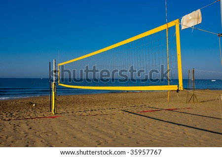 beach volleyball net in the sky