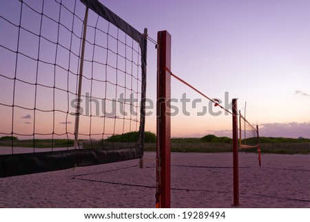 Beach Volleyball Nets at Sunrise
