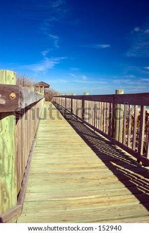 beach walkway - stock photo
