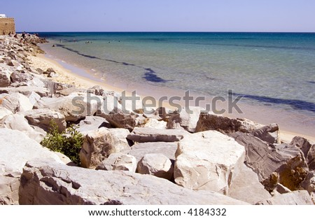 Beach Waterfront of Hammamet, Tunisia - stock photo