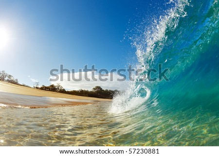 Beach Wave - stock photo