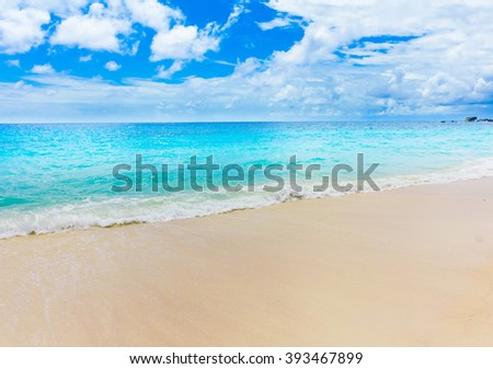 Beach Waves Splashing  - stock photo