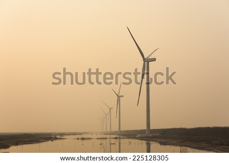 Beach Wind Power - stock photo
