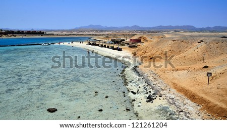 beach with coral reef marsa alam