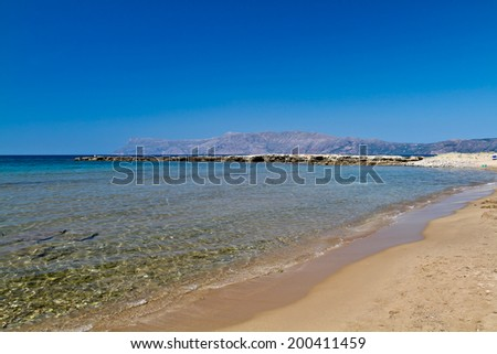 beach with rocks in Crete, Greece