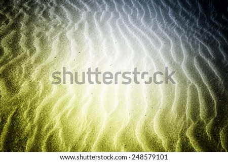 Beach with soft sand, rippled texture of windblown effect - stock photo