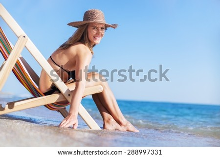 Beach, Women, Relaxation.