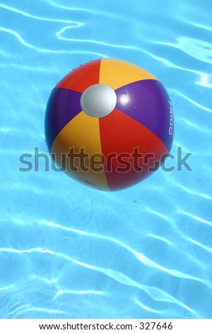 beachball in the pool