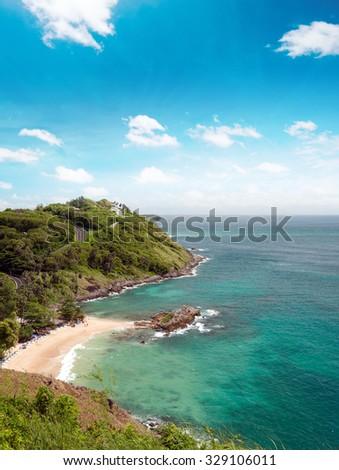Beaches and coastline of sea near Phuket, Thailand at summer  - stock photo
