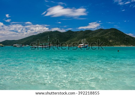 Beaches of Pontal do Atalaia, Arraial do Cabo, Rio de Janeiro, Brazil - stock photo