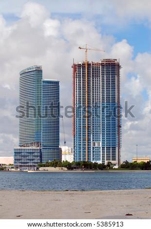 Beachfront construction in Florida - stock photo