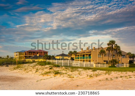 Beachfront hotel at St. Augustine Beach, Florida. - stock photo