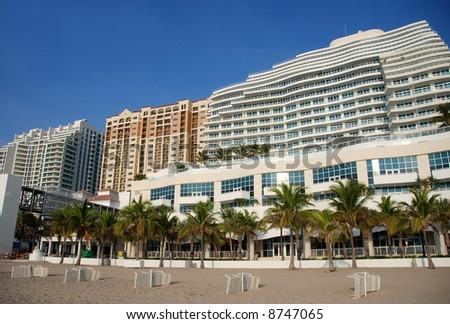 Beachfront timeshare in Florida - stock photo