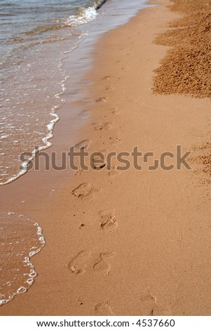 Beachwalk - stock photo