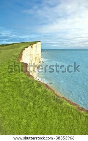 Beachy Head - stock photo