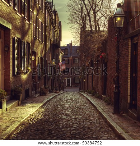 Beacon Hill, Boston - stock photo