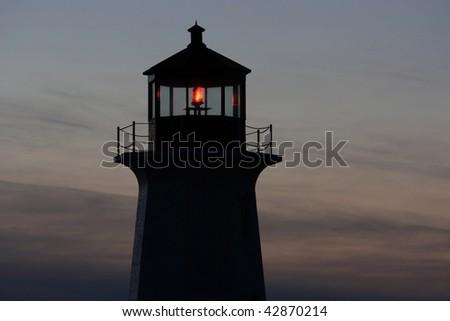 Beacon in the night - stock photo