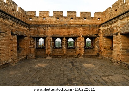beacon tower of Great Wall, China - stock photo