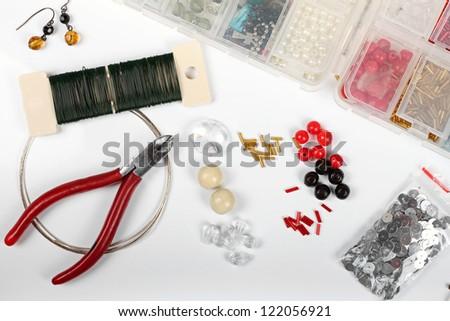 beading workshop - stock photo
