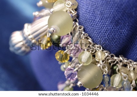 Beads bracelet, detail - stock photo
