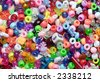 beads, multicoloured - stock photo