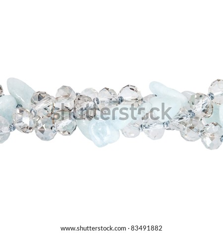 beads on white - stock photo