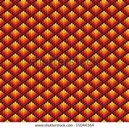 Beadwork background in earth tones. - stock photo