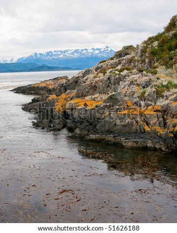 Beagle channel, Patagonia, Argentina - stock photo