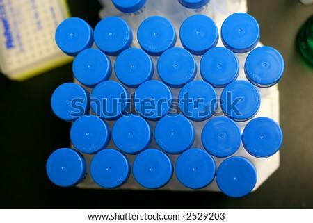 Beaker and Graduated Cylinder Chemistry - stock photo