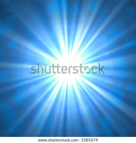 Beaming Rays on Blue