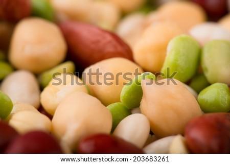 bean, peas as a background - stock photo