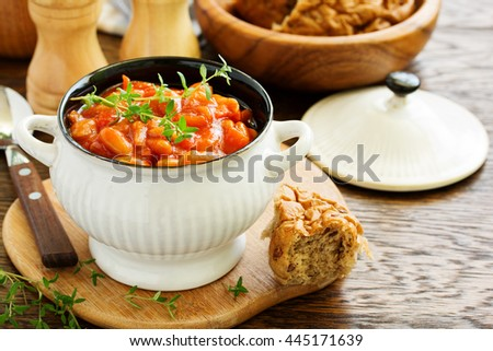 bean stew with vegetables.