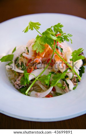 Bean Vermicelli and Prawn Spicy Salad