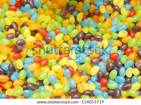 beans, green, white, sweet, jelly, red, yellow, orange, candy, pink, purple, color, colorful, background - stock photo