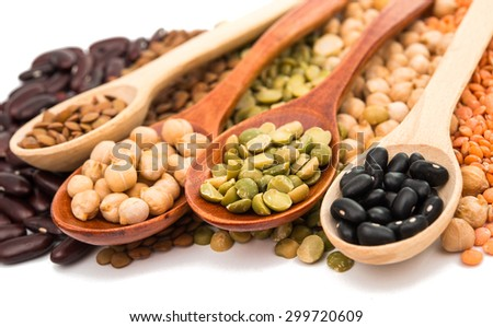 beans on a white background - stock photo