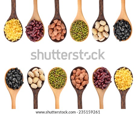 Beans on white background - stock photo
