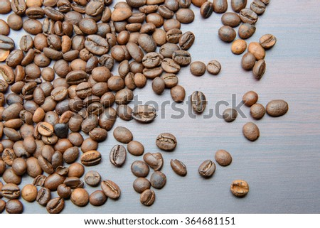beans scattered on the table