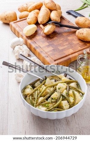 beans with potatoes - stock photo