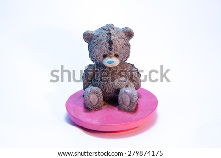 Bear doll isolate on white background - stock photo