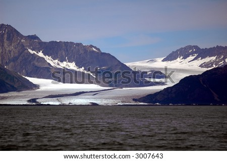 Bear Glacier, Resurrection Bay, Alaska - stock photo