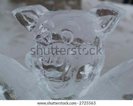 bear ice sculpture - stock photo