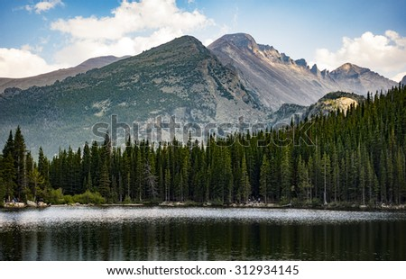 Bear Lake high in the Rocky Mountains of Colorado - stock photo