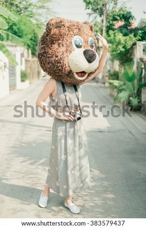 bear mascot costume stock photo edit now 383579437 shutterstock