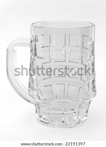 Bear mug on white background