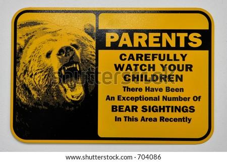 bear sign - stock photo