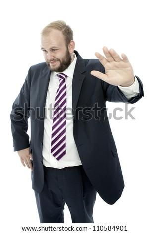 beard business man is unsuspecting - stock photo