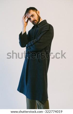 bearded thinking - stock photo