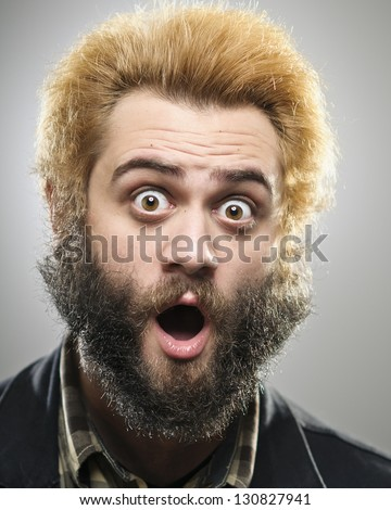 Bearded Weirdo Hipster Series - stock photo