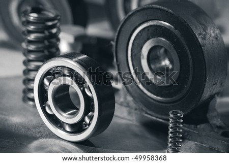 Bearing and mechanical equipments - stock photo